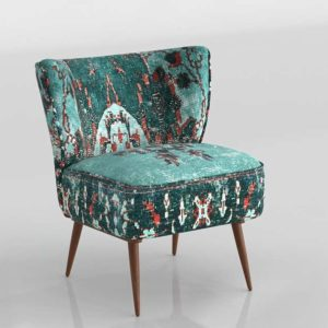 Silla 3D Anthropologie Dhurrie Occasional