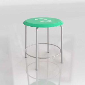 Numeral Metal Stool Furniture