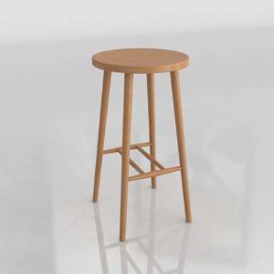 La Redoute Bar Stool 65 cm 3D Model