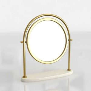Contrell Round Brass Mirror CrateAndBarrel