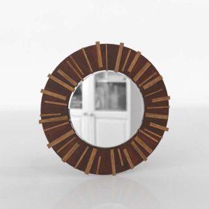 Island Fusion Kobe Round Dresser Mirror
