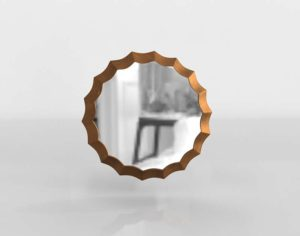 Scallop Mirror Round
