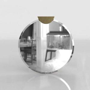 Suki Tab Round Metal Mirror CB2