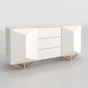 Faceted Lacquer Credenza WestElm