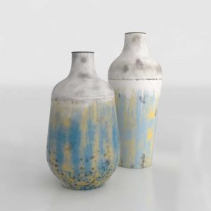 Rustic Set of 2 Vases ZuoMod Decor