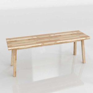 Banco 3D IKEA Skogsta