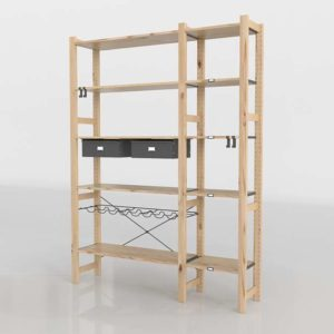 Estantería 3D IKEA Ivar