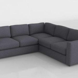 Sofá 3D Seccional Rinconero IKEA Vimle Negro