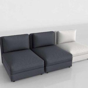 Sofá 3D Seccional Central IKEA Vallentuna