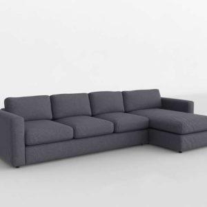 Sofá 3D Seccional Chaise IKEA Vimle