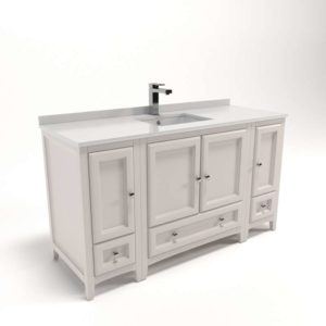 Fresca Oxford Bathroom_Vanity_With_2_Side_Cabinets_Antique_White