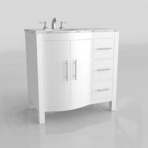 Silkroad Contemporary Bathroom Vanity Cabine Overstock