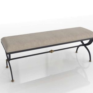 19th C French S-Curve Bench RH