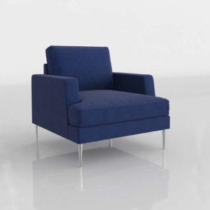 Modelo 3D Sillón Saho Azul