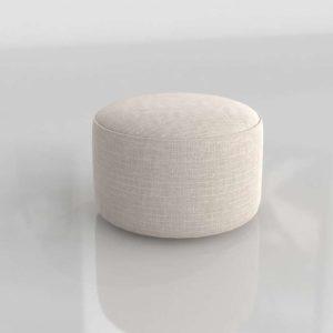Modelo 3D Pouf Bassoh Blanco