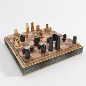 Shagreen Chess Set Interior Game Furniture