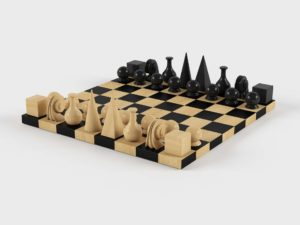Man Ray Chess Set Interior Game Furniture