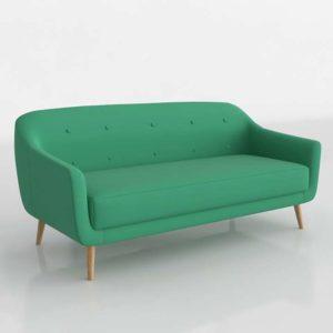 Modelo 3D Sofá Acebo Verde