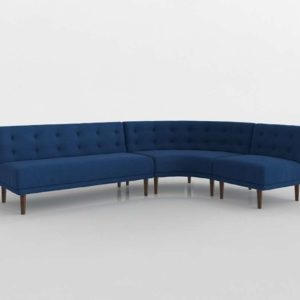 Retro Rounded Sectional Westelm