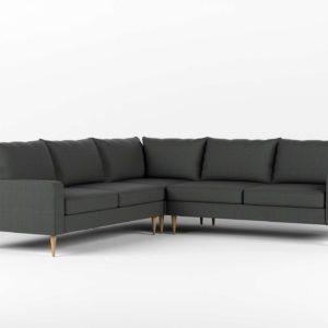 Sofá 3D Rinconero Interior Define Sloan Gris