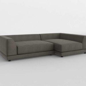 Uno 2 Piece Sectional Sofa CB2