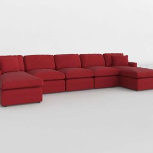 Sectionals and Sets Red Interior Design