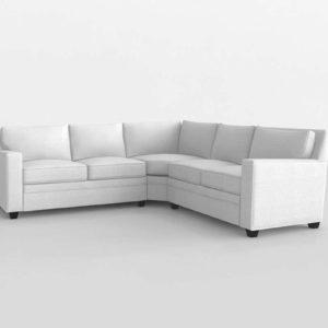 White Corner Set Interior Design