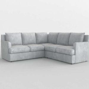 White Sectional Interior Design