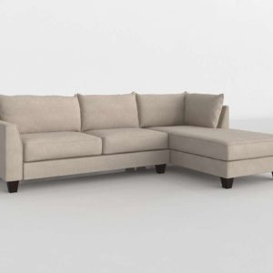 Kira Sectional WRaf Chaise Living Spaces