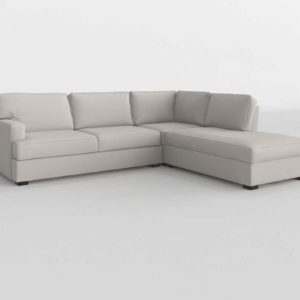 Townsend Square Arm 3 Piece Bumper Sectional Pottery Barn