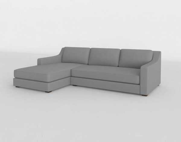Modena Slope Arm Left Arm Sofa Chaise Sectional Restoration Рardware