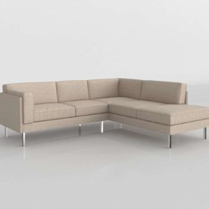 Skinny Fat Corner Sectional With Bumper
