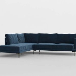 Linde Chaise Sectional 3D