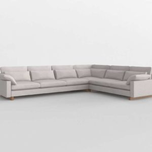 Harmony L Shaped Sectional WestElm 3D