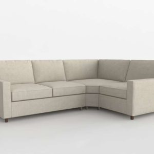 Comfort Square Arm Upholstered Sectional Pottery Barn
