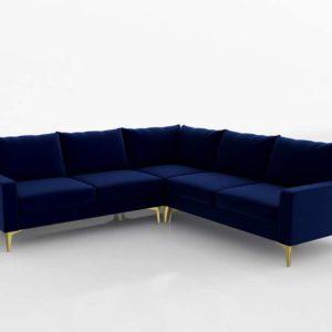 Sofá 3D Rinconero Interior Define Sloan Azul