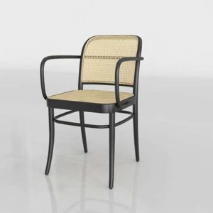 UnisonHome 811 Black Cane Armchair