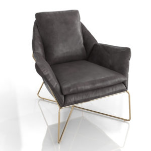 WestElm Origami Leather Lounge Chair