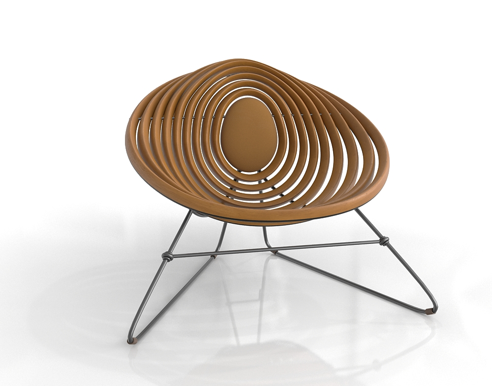 ZincDoor Square Feathers Nissim Chair