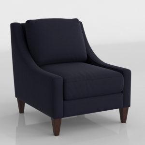 PotteryBarn Aiden Upholstered Armchair Organic Cotton Twill