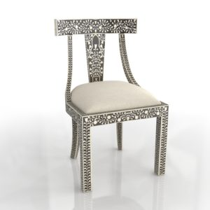 Horchow Femi Bone-Inlay Accent Chair