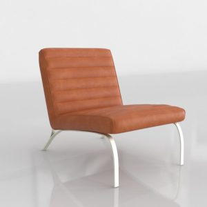 Westelm Emil Leather Slipper Chair Nutmeg