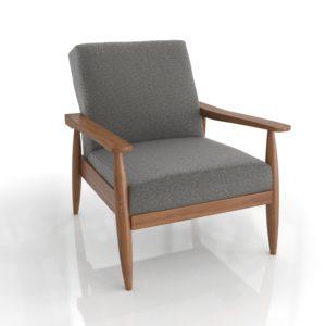 Walmart Flynn Mid-Century Chair Wood