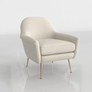 WestElm Phoebe Chair Morse Dot Ivory
