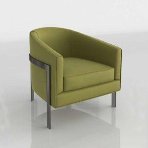 RHmodern Reginald Chair In Leaf Silk