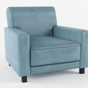 Side Chair Glancing Eye 3D Model C05