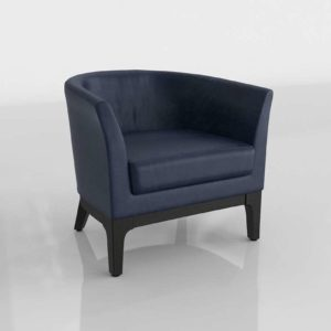 WestElm Tulip Leather Chair