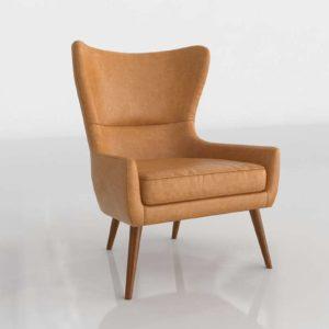 Westelm Erik Leather Wing Chair