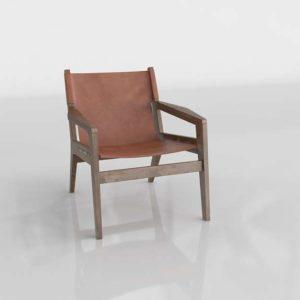 Westelm Felipe Leather Sling Chair