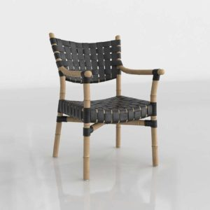 Wisteria Canyon Leather And Rattan Chair